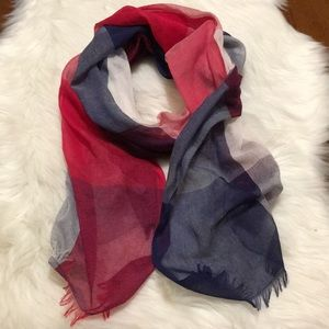 🆓 with purchase! Talbots Lightweight Plaid Scarf